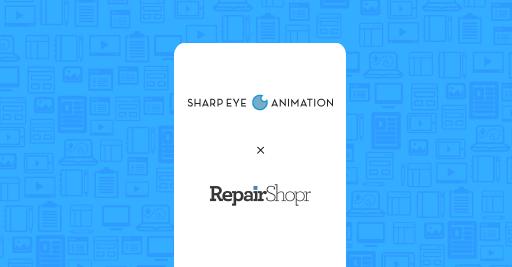 RepairShopr/Sharp Eye Animation case study graphic