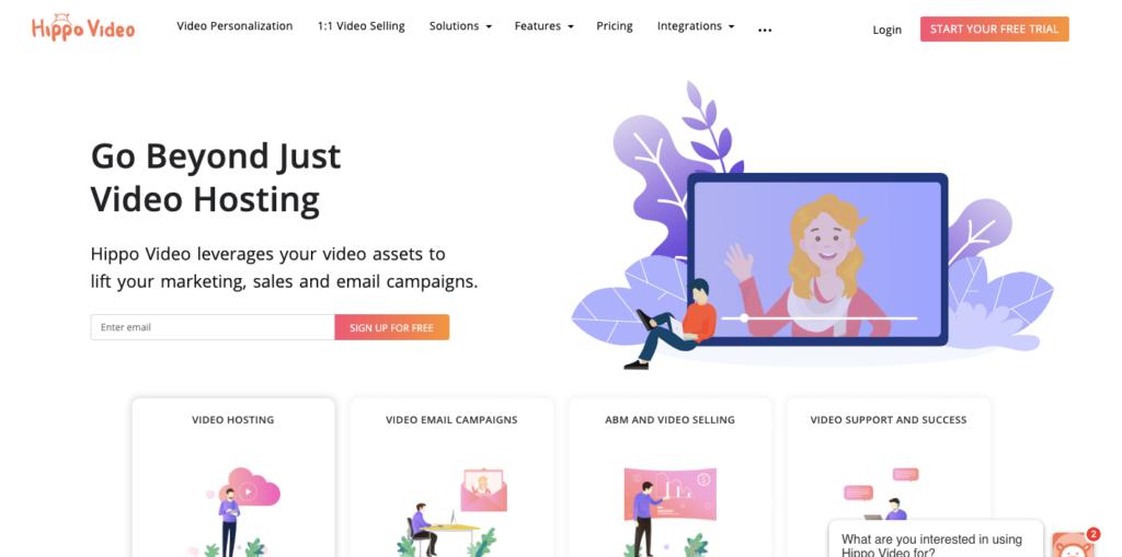Hippovideo homepage