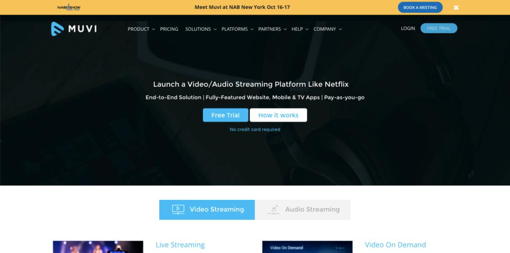 Muvi homepage