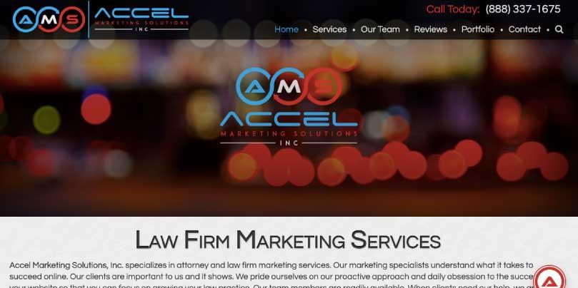 Accel Marketing website