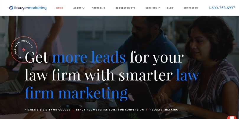 ilawyer marketing website