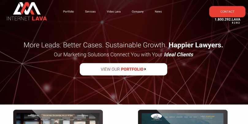 Internet Lava website