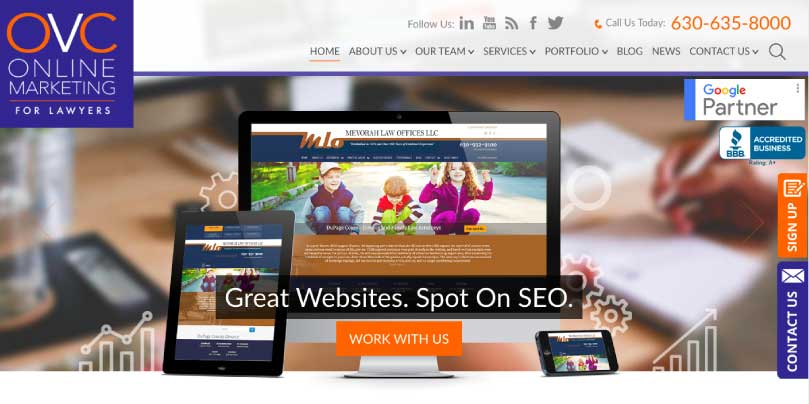 OVC Online Marketing website