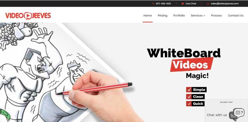 Video Jeeves website