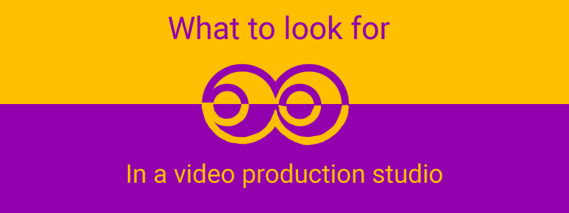 What to look for in a video production studio graphic