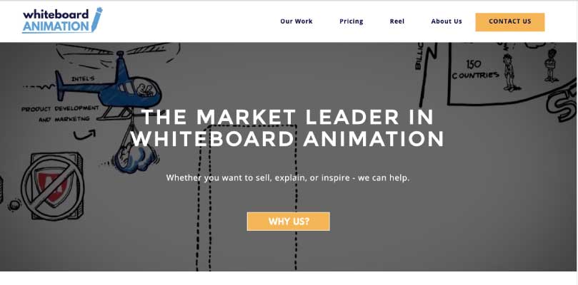 Whiteboard animation website