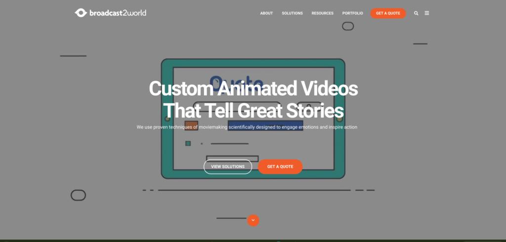 Broadcast2World Best animated training video companies