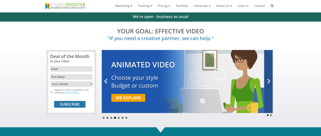 Studio Rossiter Best animated training video companies