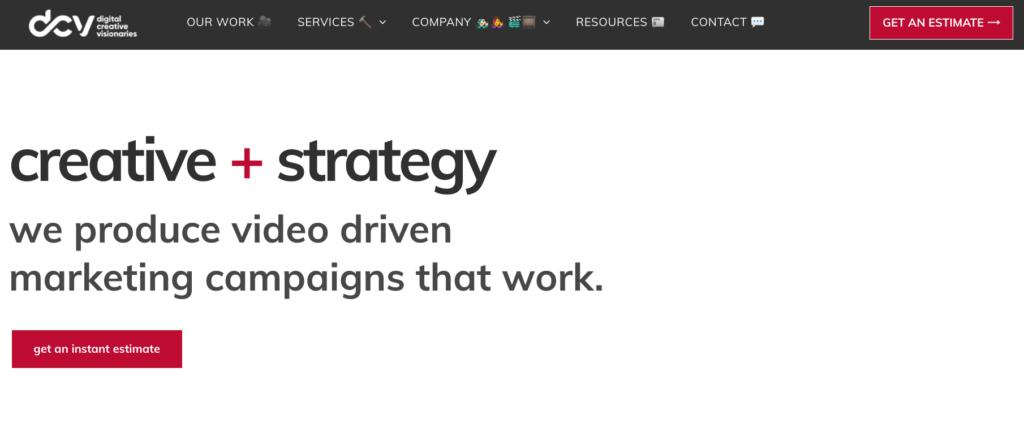 Digital Creative Visionaries website