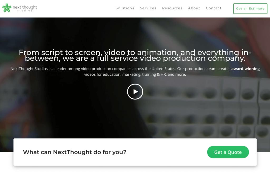 Next thought studios website