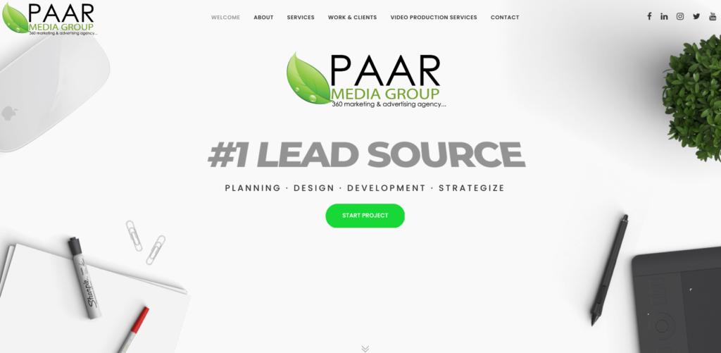 Paar media group website
