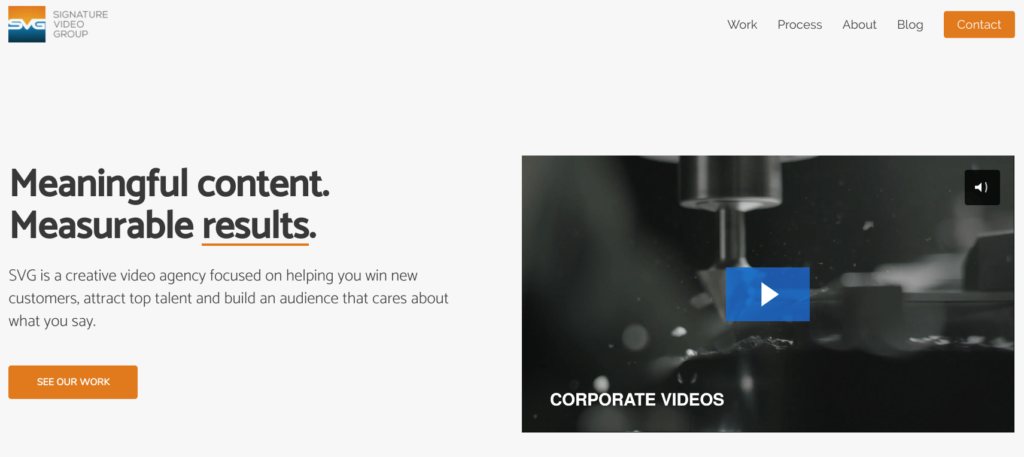 Signature video group website