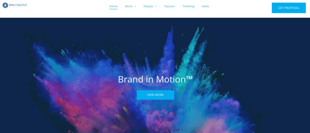 Spin Creative website