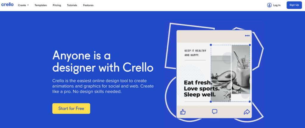 Crello website
