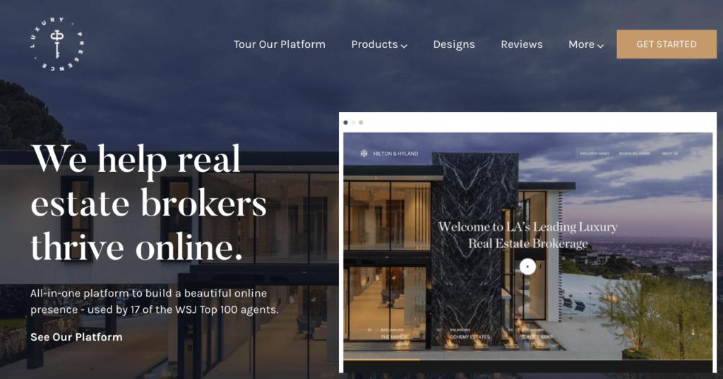 luxury presence website
