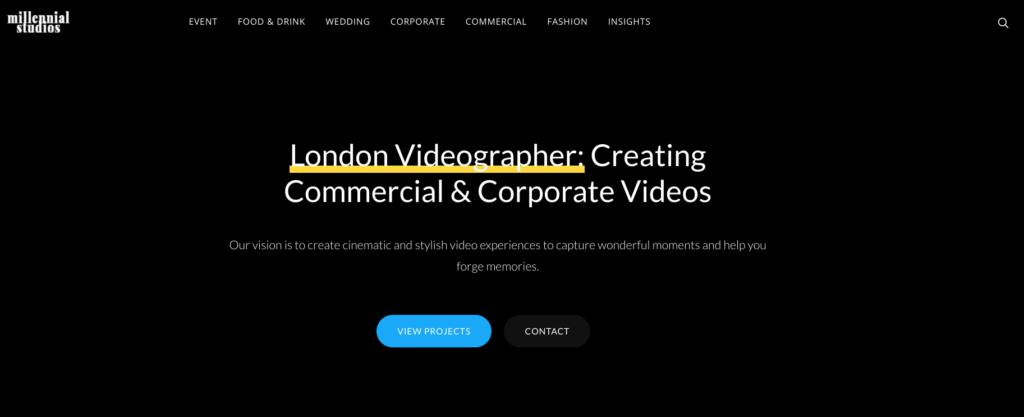 millennial studios website
